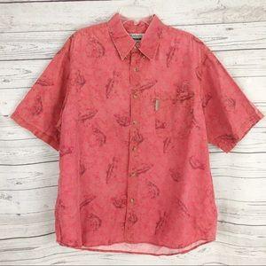 Columbia men's Fishing novelty button casual shirt